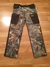 KIDS UNDER ARMOUR SCENT CONTROL CAMO PANTS YOUTH XL NEW REALTREE CAMOUFLAGE NWT