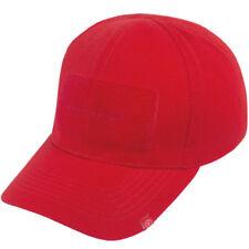 Gorras y sombreros de hombre de poliéster de color principal rojo de talla única