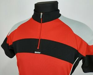 Santini SMS Mens Red/Black Cycling Jersey Short Sleeve Size L