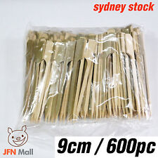 Bamboo Skewer with Skin 9cm 600pcs Paddle Style