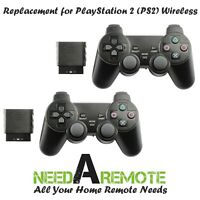2 For Sony Playstation 2 PS2 Video Game Console Remote Controller Wireless
