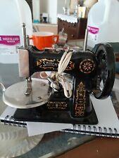 Antique Stitchwell Salesman Sample Sewing Machine Cast Iron Singer Child Toy