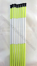 100 Pack 48'' Long Reflective Driveway Markers Snow Plow Stakes Snow Pole Green