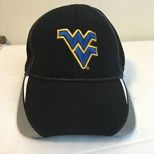 size 40 67981 f9bfa West Virginia Mountaineers WVU NCAA Strapback Hat Black Gray Embroidered  Logo.