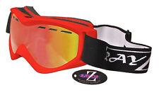 Rayzor Rosso Da Sci Snowboard Occhiali 100% UV400 anti nebbia doppia lente rirerego RRP £ 69