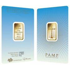 10 gram PAMP Suisse Gold Bar - Romanesque Cross (in Assay) .9999 Fine