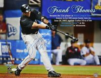 Frank Thomas Big Hurt Autographed 16x20 Named Swinging Photo- JSA Authenticated