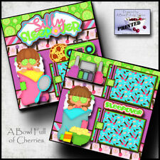 SLEEPOVER ~ girl party spa ~ 2 Premade Scrapbook Pages paper printed ~BY CHERRY