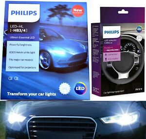 Philips LED Canceller White 9005 Two Bulbs Head Light High Beam Replacement Fit