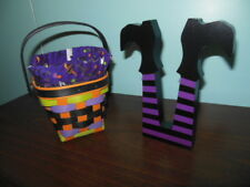 Longaberger 2017 Halloween Treats Basket with Liner and Witch's Legs!