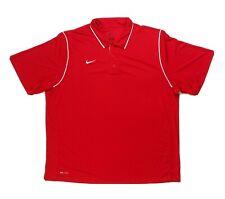 Nike Gameday Three Button Short Sleeve Polo Men's XXXL Red Dri-FIT 476281