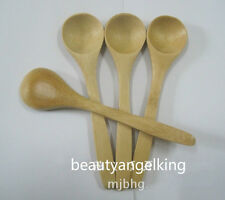 10pc Wood Small Little Mini Wooden Spoon Scoop Salt Sugar Condiment 13cm Cooking