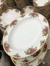 ROYAL ALBERT OLD COUNTRY VERY LARGE OVAL MEAT PLATTER 38 Cm 1st Quality