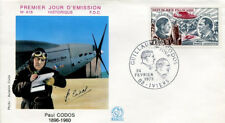 FRANCE FDC - 836 A48 2 PAUL CODOS AVION IVIERS 24 2 1973 - LUXE