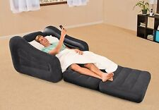 Convertible Sleeper Sofa Pull Out Chair Single Dorm Bed Camping RV Guest Lounger