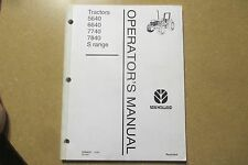 New Holland 5640 6640 7740 7840 tractor owners & maintenance manual