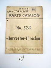 McCormick-Deering IH Harvester Thresher No. 52-R Parts Catalog - HT-23