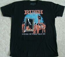 Rush 1981 Moving Pictures Tour T-Shirt Adult Xl neil peart New Official