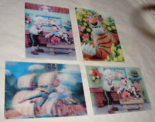 DISNEY VINTAGE LENTICULAR POST CARDS LOT PETER PAN JUNGLE BOOK PINOCCHIO 1960s