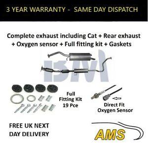 BM Catalytic Converter + Complete Exhaust + Oxygen Sensor+ F/Kit for Prius 03-09