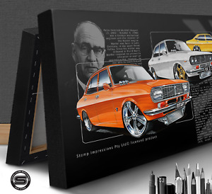 MAZDA ROTARY RX2 RX3 RX4 CANVAS STOMP CAR WALL ART