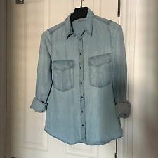 Mango Light Blue Denim Shirt SIZE S