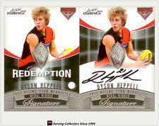 2012 Select AFL Eternity Medal Winners Signature Redemption Card MWS3 D. Heppell