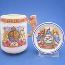 George VI Coronation Paragon Chocolate Cup & Cover