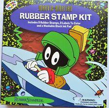 Marvin the Martian Rubber Stampede Stamp Kit Looney Tunes Set Vintage Uninked