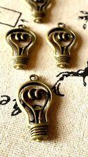 Foco 5 Bronze Charms Joyería suministros de estilo vintage C304
