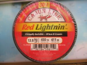 Cajun Fishing Line 30 Lb Red Lightnin' Premium Monofilament 450 Yds Brand New!!!