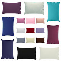Luxury Pillow Pair Cases Polycotton Housewife Pair Pack Bedroom Pillow cover