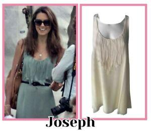 Joseph Silk Slip Dress with Ruffle Details Size UK 8 EU 36