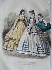 1i86 Gravure de mode 1865 journal des demoiselles