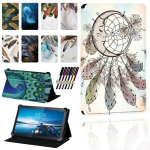 "FOLIO LEATHER STAND CASE COVER Fit Lenovo Smart Tab M8 8"" / Tab M10 10.1"" + Pen"