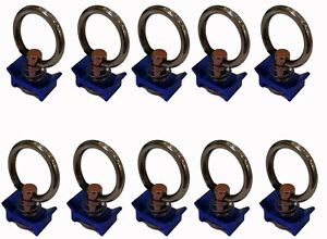 Single Stud Fitting with Stainless Steel Ring for L Track/Airline Track-10Pack