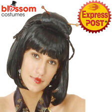 AS143 Oriental Geisha Japanese Chinese Bob Black Holloween Costume Wig