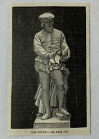 1885 magazine engraving~ painter JEAN COUSIN