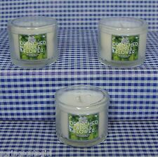 3 Bath & Body Works Slatkin & Co DRENCHED APPLE FLOWER 1.3 oz Mini Scent Candle