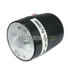 Indoor SY3000 Photography Studio Strobe Light AC Slave Flash Bulb E27 110V-220V