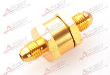 3AN AN3 AN-3 Fuel Non Return One Way Check Valve Petrol Diesel Aluminum Golden