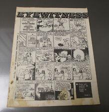 1969 EYEWITNESS Underground Magazine #10 San Francisco Vietnam Cuba VG- 10 pgs