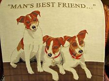 Jack Russell Terrier Dog Belgian Tapestry Pillow Cover