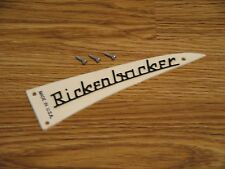 Rickenbacker White Truss Rod Cover Name Plate w/ Mounts