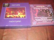 DEEP PURPLE BOX SETS MADE IN JAPAN 9 LP BOX & 60 PAGE BOOK + CONCERTO BOX 12 LP