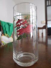 Crocus Flower Cooler Highball Tumblers Glass 14 oz. Libbey? Pink Green !
