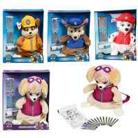 Nickelodeon Paw Patrol Plush Soft Toy With Crayons Stationery Brand New Gift