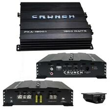 Crunch PXA18001 Mono Amplifier 1800 Watt 2 Ohm Stable With Bass Remote