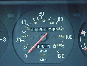 Volvo 240 Instrument Cluster K10042 1989 DL SEDAN  189,476 Miles.