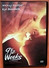 Nine 1/2 Weeks DVD Region 2 Mickey Rourke Kim Basinger Whitton Margulies Lyne